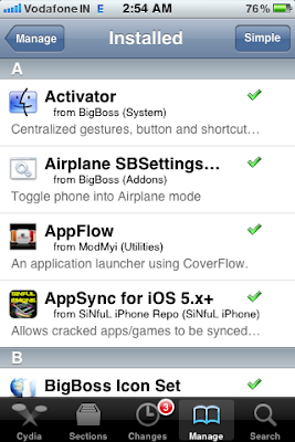 cydia installed apps