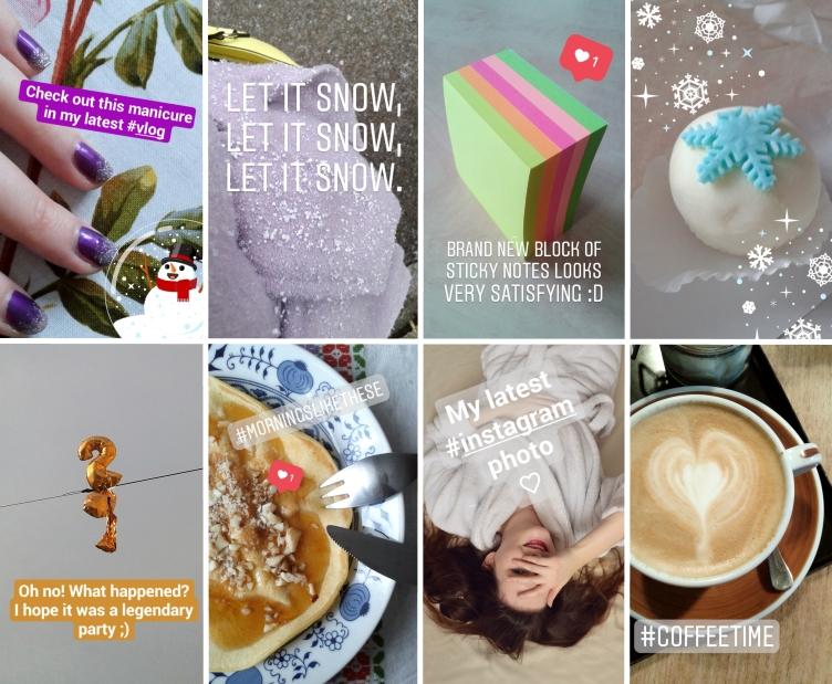 january instagram stories, georgiana quaint, january days