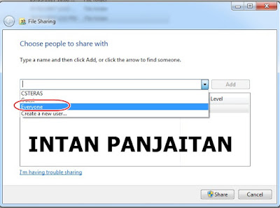 file sharing data windows 7