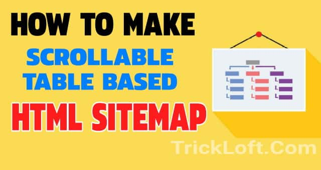 scroll able html sitemap blogger