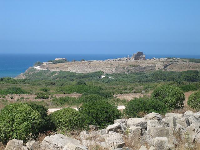 Selinunte - Vista de la acrópolis desde el Templo E