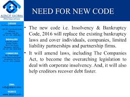 The Insolvency and Bankruptcy Code, 2016 (IBC)