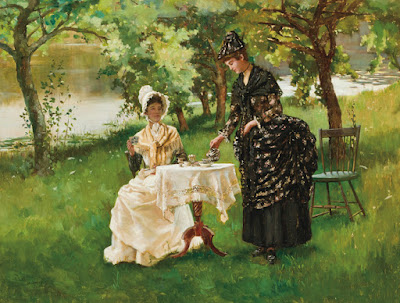 Summertime- Afternoon Tea (1889), Rhoda Holmes Nicholls