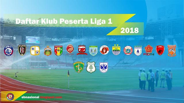 Daftar Peserta Liga 1 Indonesia 2018 - SBNasional.com