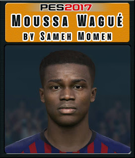 PES 2017 Faces Moussa Wagué by Sameh Momen