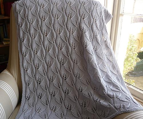 Leafy Baby Blanket  free knitting pattern