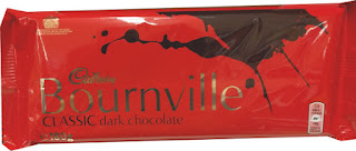 Cadbury Bourneville classic dark chocolate bar