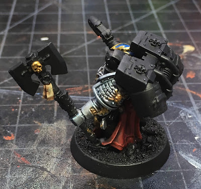 Deathwatch Librarian with Jump Pack WIP left side