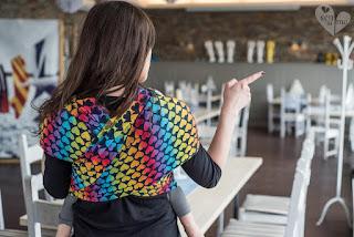 Nagroda w konkursie - chusta do noszenia dzieci Rainbow Hearts