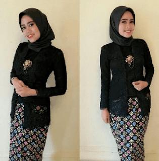 kebaya kutu baru hijab tenun borkat