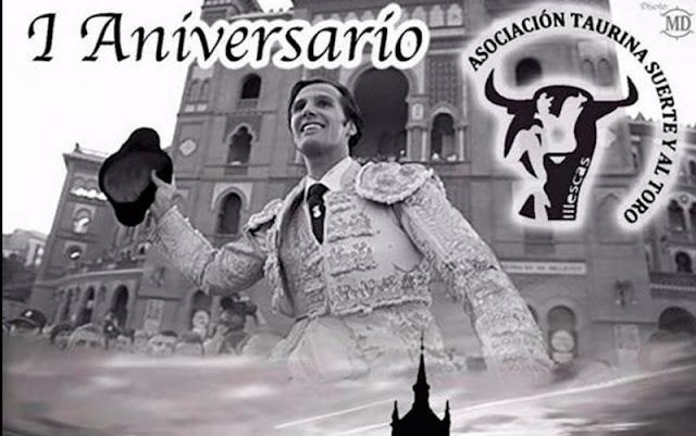 Vista parcial del cartel I aniversario de la asociacion taurina Suerte y Al toro. IMAGN COMUNICACION ILLESCAS