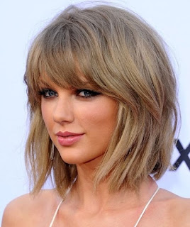 model Rambut Tailor Swift bob