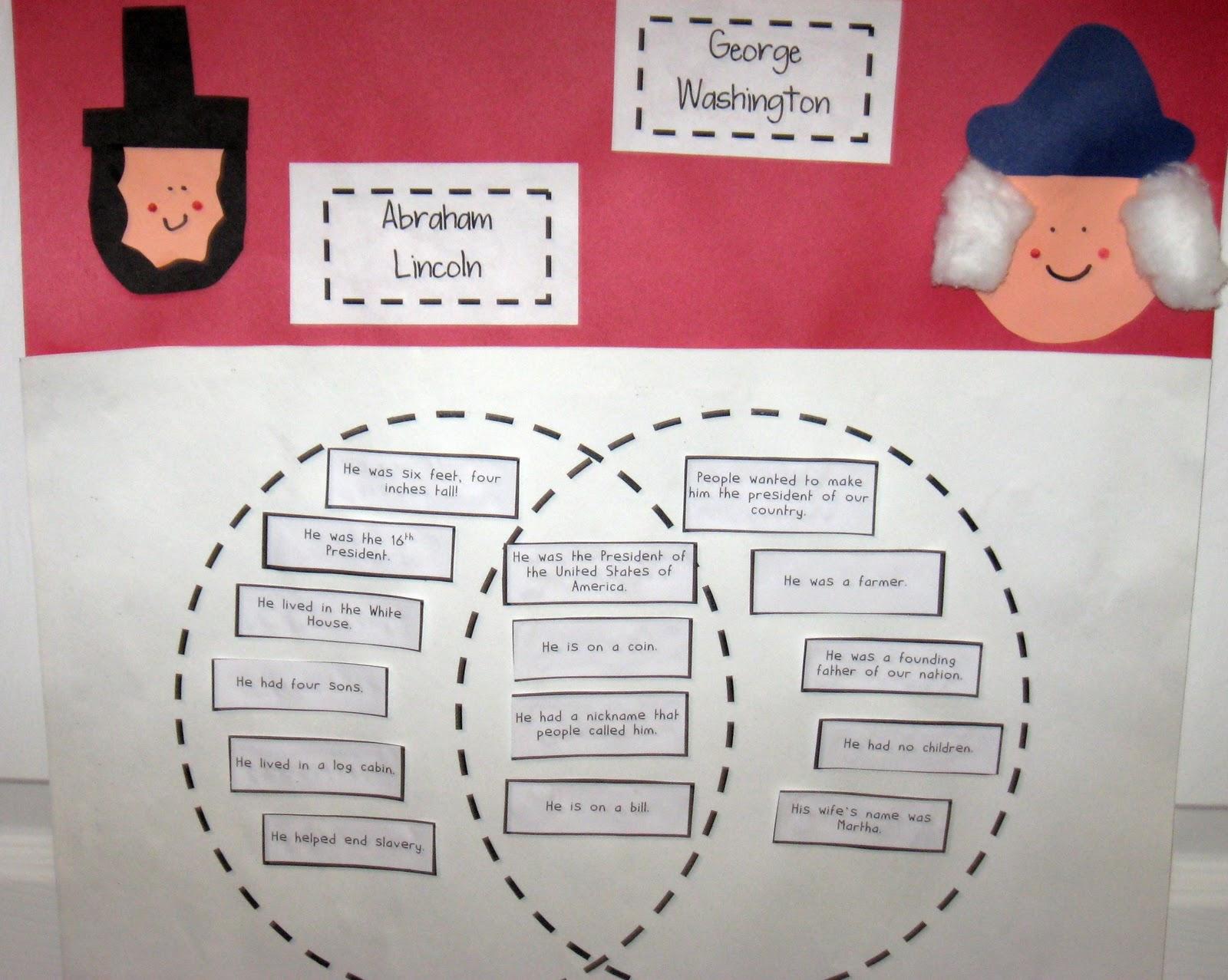 Venn Diagram Bulletin Board 7 Way Trailer Plug Wiring Ford F150 Presidents Day Ideas And Fun Mrs Kilburn 39s Kiddos