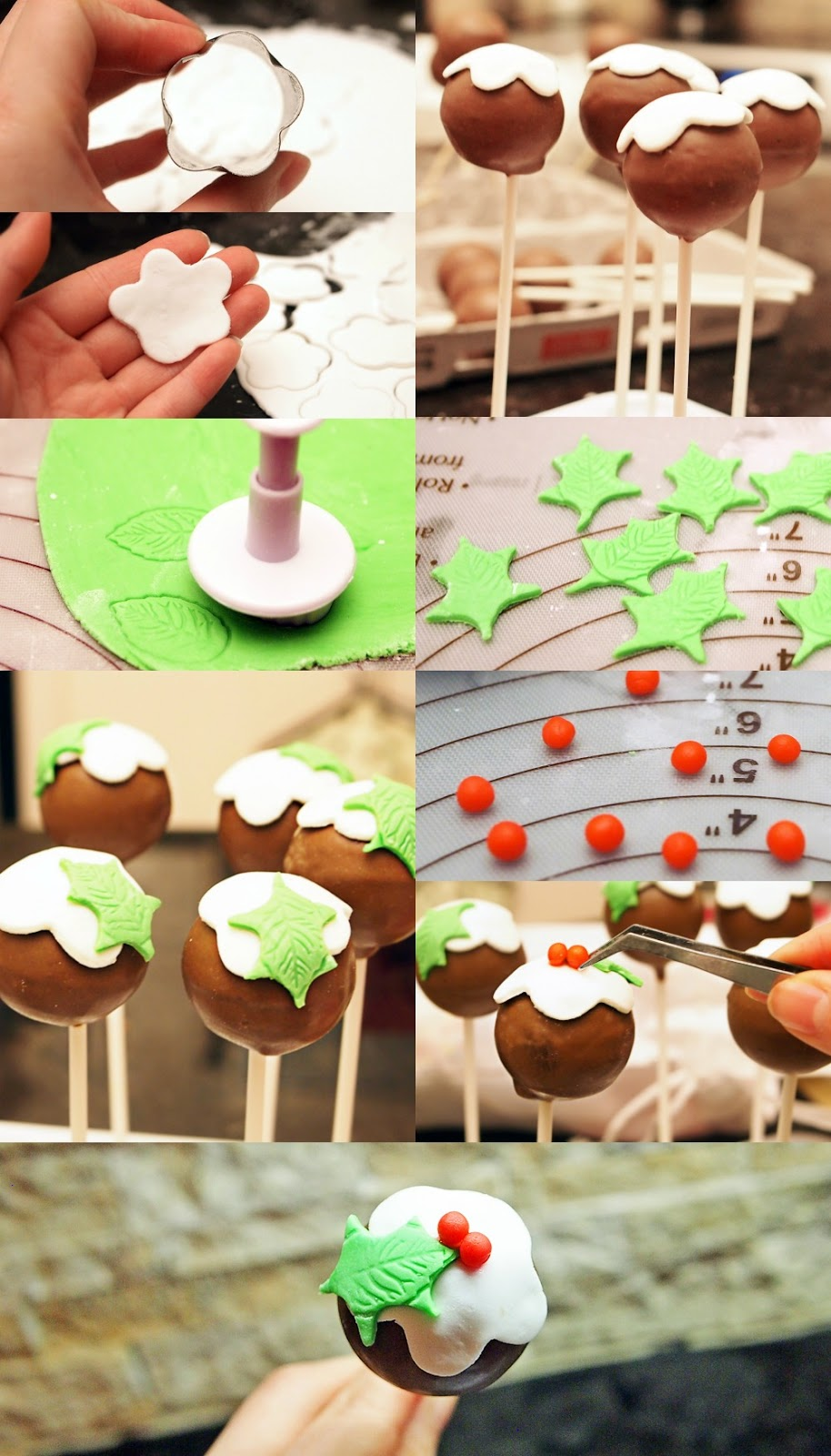 How to make Christmas Holly Jolly Christmas Cake Pops (tutorial