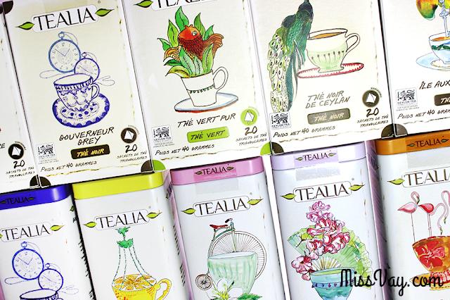 Les thés Tealia