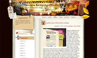 Tanzania Background To Many Blogger Template