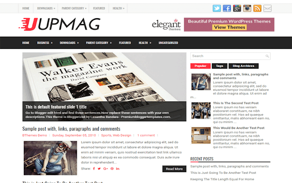 UpMag Free Blogger Template