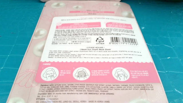 Etude House I Need You Pearl mask ingredients