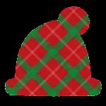 クリスマスのマーク(チェック・サンタ帽)