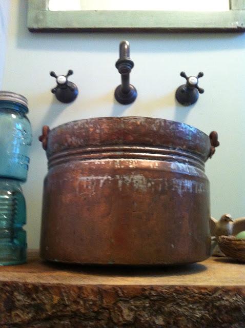DIY Easy Peasy Copper Bucket Vessel Sink   Tobi