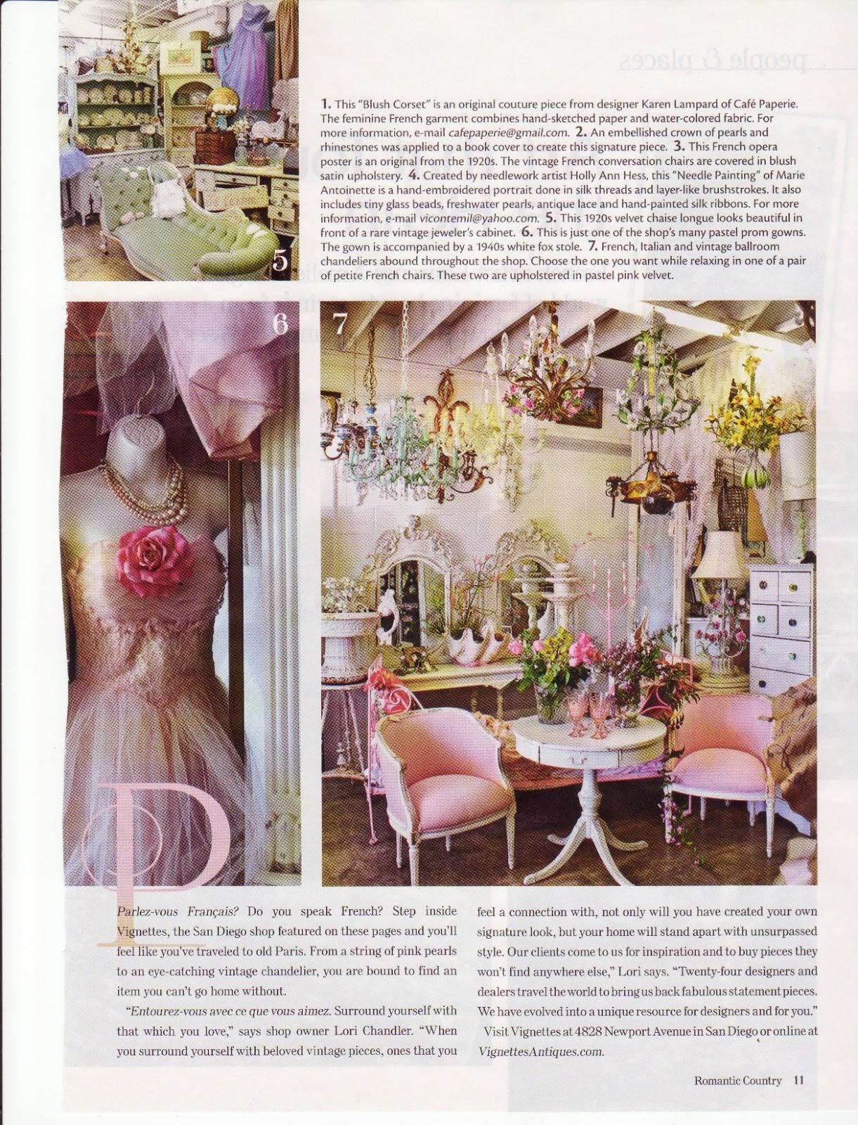 Vignettes Antiques: Merci ~ Romantic Country Magazine!