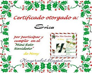 Certificado do Mini Reto de Mony