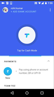 Adding Bank account in Google UPI app Tez
