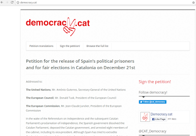Mu-Jeong Kho: The petition for the release of Spain's political prisoners and for fair elections in Catalonia on December 21st.