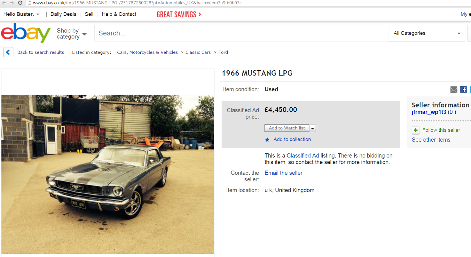 Comfortable Ebay Motors Uk Cars For Sale Images - Classic Cars Ideas ...