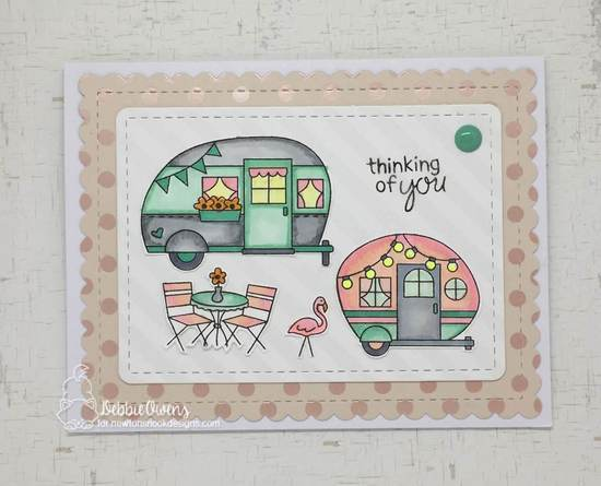 Thinking of you by Debbie features Cozy Campers and Frames & Flags by Newton's Nook Designs; #newtonsnook