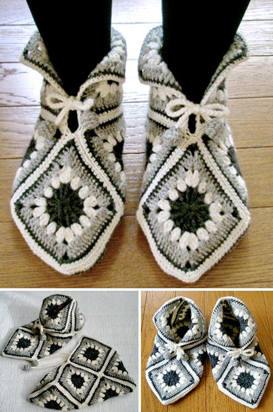 Stylish Easy Crochet: Crochet-Slippers-Pattern - Women\'s Slippers