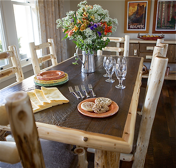 Log Dining Room Tables: News And Announcements From Jack: Rocky Top Log Furniture