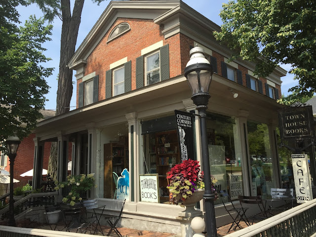 Inside a historic home in St. Charles, Illinois is a maze of books and charming cafe.