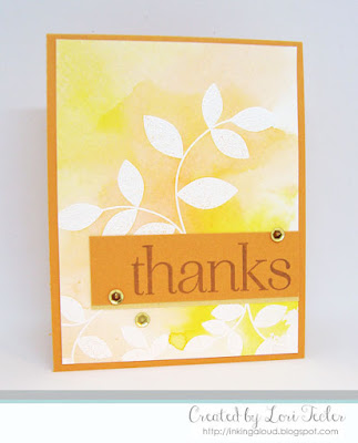 Turning a New Leaf Thanks card-designed by Lori Tecler/Inking Aloud-stamps from Papertrey Ink