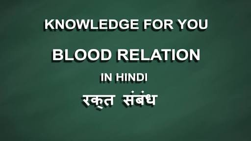 BLOOD RELATION PROBLEMS WITH SOLVED EXAMPLE