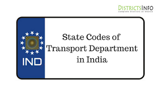 State Codes of Transport Department in India