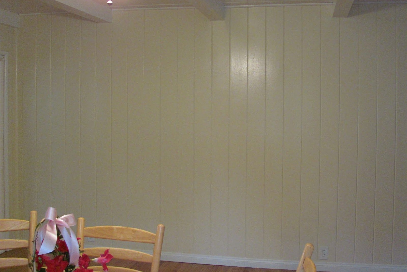 Hiding From The Laundry Painting The Knotty Pine