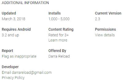 DARRA RELOAD Update Versi Aplikasi Android 2.3 Silahkan Download Ulang