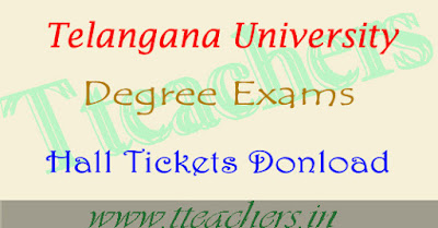 Telangana University degree hall ticket 2017 1st 2nd 3rd year exam admit cards