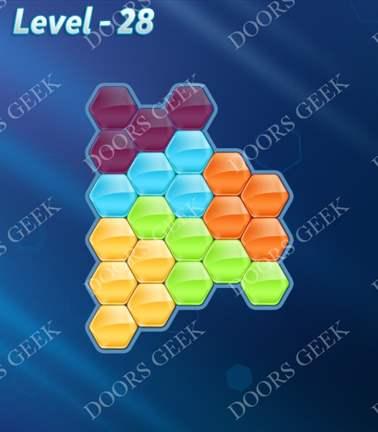 Block! Hexa Puzzle [5 Mania] Level 28 Solution, Cheats, Walkthrough for android, iphone, ipad, ipod