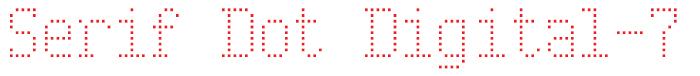 Serif Dot Font