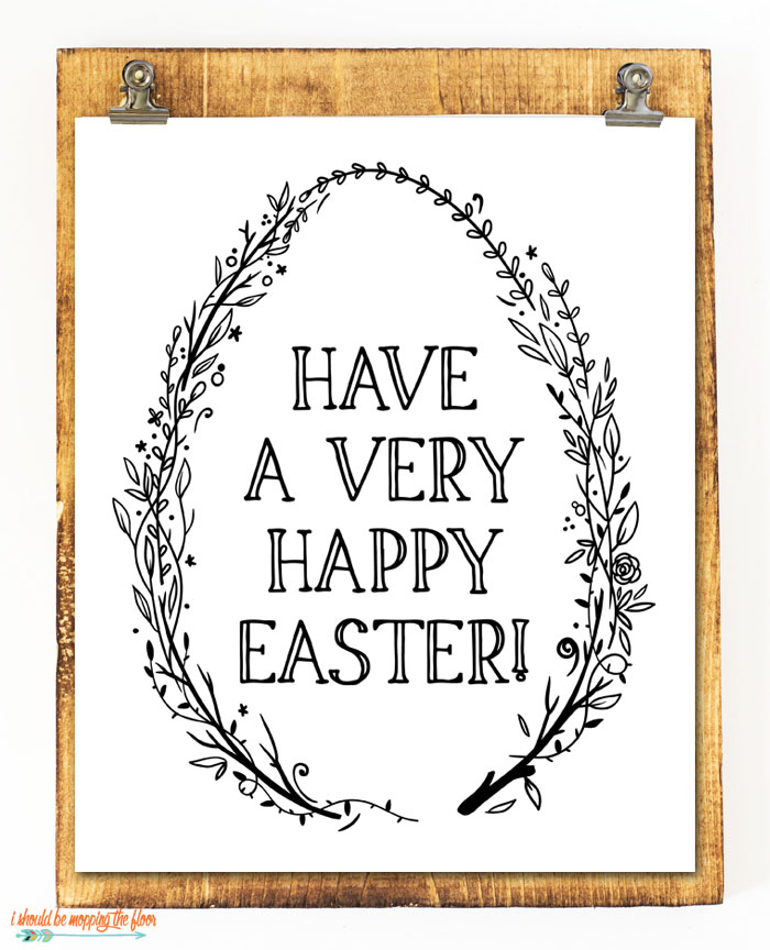 Easter Wreath Printable