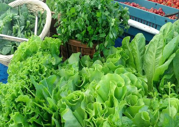 हरी पत्तेदार सब्जियां और फलों का उपयोग