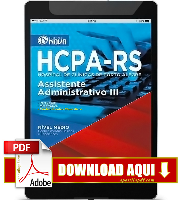 Apostila HCPA 2016 Assistente Administrativo PDF Download