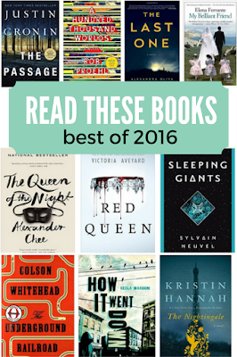 There's a wide range of genres in this list of favorite books from 2016 reading. Sci Fi, YA, historical fiction, thrillers, and even horror!