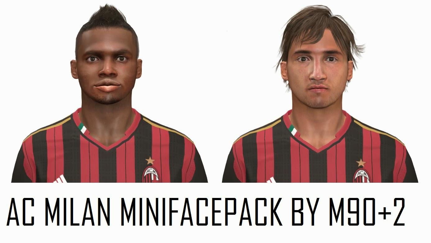 Pes-modif: PES 2014 AC MILAN MINIFACEPACK By M90+2