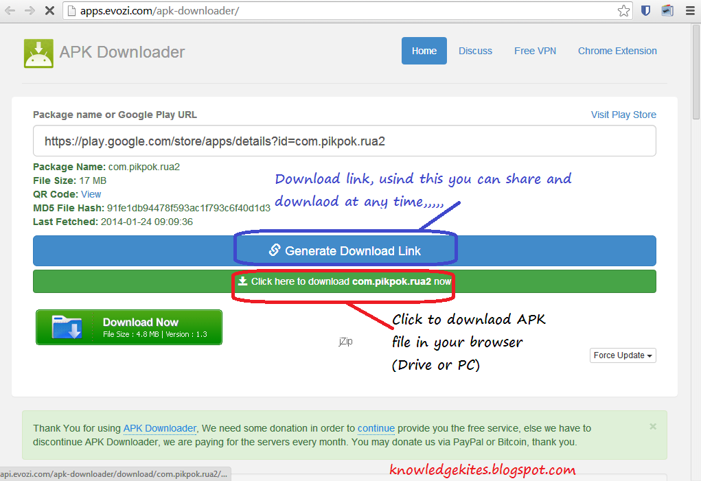 Download Android APK file in PC from Google play store Step 3