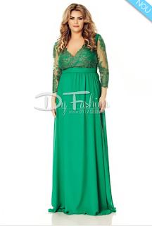 Cumpara aici rochia XXL de ocazie lunga- verde acum cu livrare in strainatate