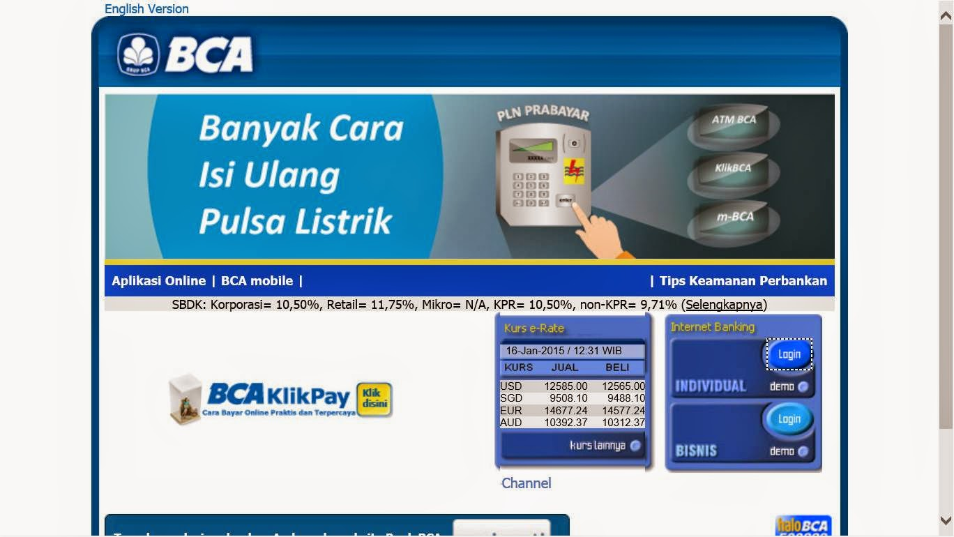 Electric Guitar is My Passion: Internet Banking KlikBCA