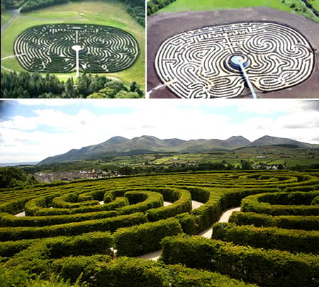 Labirin di Irlandia Utara; http://id.faktaunik.dorar.info/
